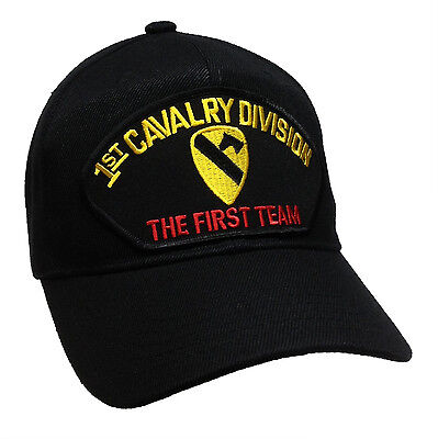 U.S. Army 1st Cavalry Division Hat Black Ball Cap The First Team US Army First
