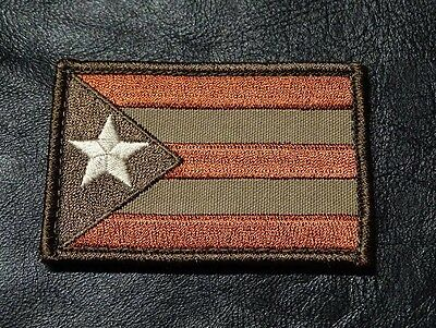 Puerto Rico Flag Tactical Morale 3 Inch  Hook Loop Patch