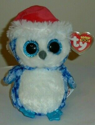 "Ty Beanie Boos ~ ICICLES the 6"" Holiday Owl ~ MINT with MINT TAGS ~ NEW"