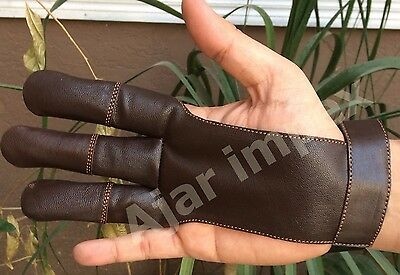 Traditional Archery Shooting Leather Glove Top Quality Glove 100% Real Leather