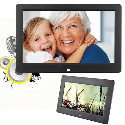 "10.1"" HD Digital Photo Frame Picture Mult-Media Player MP3 MP4 For Gift Black"