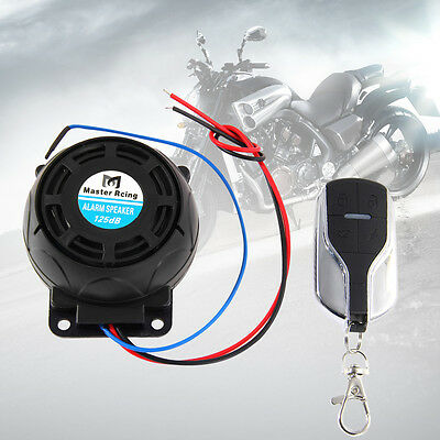 12V Motorcycle Anti theft Alarm Systems Remote Control Security Engine