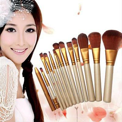 12X Pro Makeup Brushes Tool Eyeliner Eyeshadow Lip Powder Foundation Brush Set