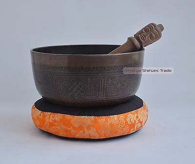 "7"" Bronze Alloy Tibetan Buddhism Singing Healing Meditation Bowl from Nepal"