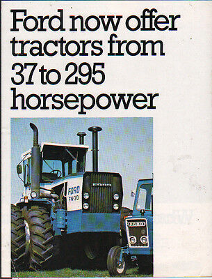 Ford 37 to 295 Horsepower Tractor Brochure Leaflet