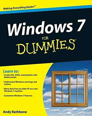 Windows 7 for Dummies, Rathbone, Andy Paperback Book The Cheap Fast Free Post