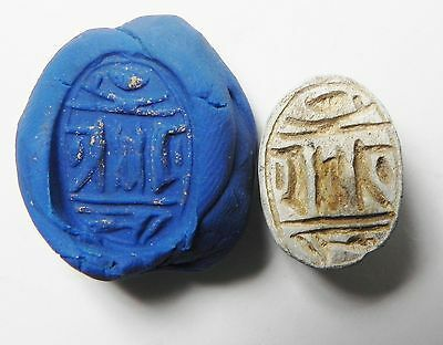 Zurqieh -Af340- Ancient Egypt , 2Nd Intermediate Scarab. 1650-1550 B.c