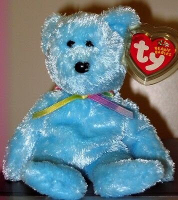 Ty Beanie Baby ~ SHERBET the Blue Bear ~ MINT with MINT TAGS ~ RETIRED