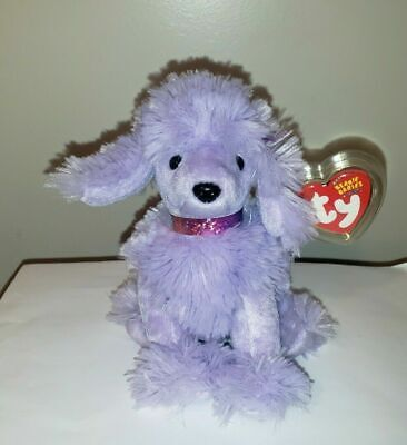Ty Beanie Baby ~ DEMURE the Purple Poodle Dog ~ MINT with MINT TAGS ~ RETIRED
