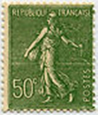 """FRANCE STAMP TIMBRE 198 """" SEMEUSE LIGNEE , 50 C OLIVE """" NEUF x TB"""
