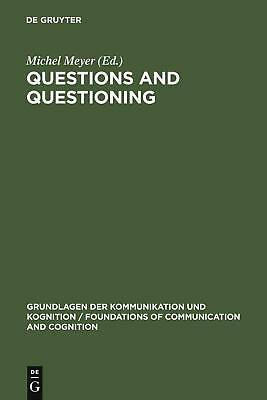 NEW Questions and Questioning by Hardcover Book (English) Free Shipping