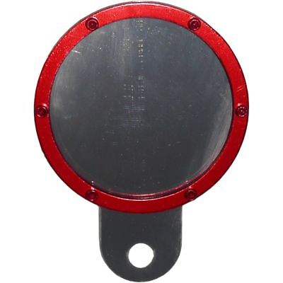 Tax Disc Holder Round Red Rim 6 Studs Silver Backing