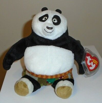 Ty Beanie Baby ~ PO the Bear ~ Kung Fu Panda DVD Exclusive ~ MWMT'S ~Stuffed Toy