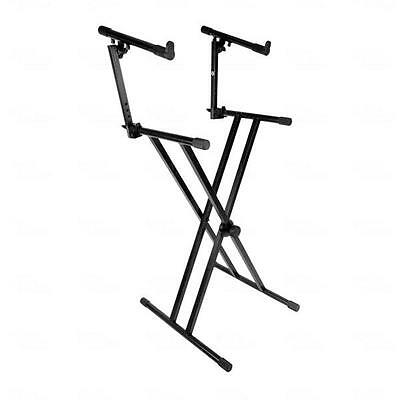 Titan AV Two Tier Dual Frame Keyboard Stand Foldable
