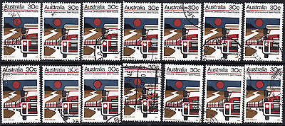 1973 30c Beef Roads National Development Australia Used Lot of 14 Stamps