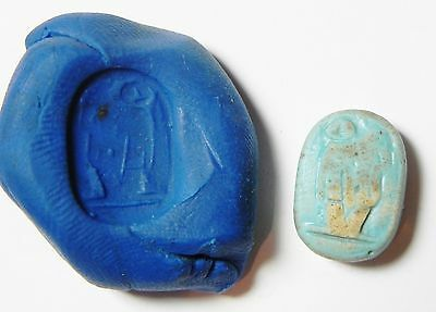 Zurqieh - Ancient Egypt , Faience Scarab 19Th Dynasty. 1300 B.c