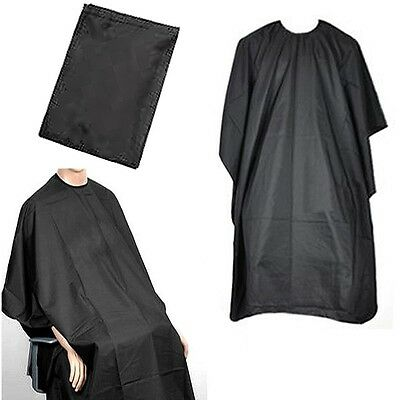 NEW Hair Cutting Cape Pro Salon Hairdressing Hairdresser Gown Barber SOLID BLACK