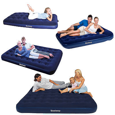 Bestway Flocked Airbed Inflatable Air Bed Mattress Single, Double, Queen, King