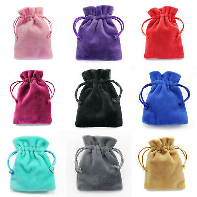 Velvet Jewellery Pouches Drawstring Gift Bags Thick Soft High Quality Wholesale