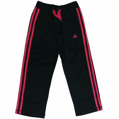 Adidas Sports Ess 3 Strip Pants Cotton Sweats Youth Kids Girls Black F49993 D108