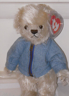 Ty Attic Treasures ~ McKinley the US Flag on Jacket Bear ~ MINT with MINT TAGS