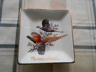 Scottish Pheasant Pattern Pennyghael Pin Tray By West Highland Pottery Dunoon