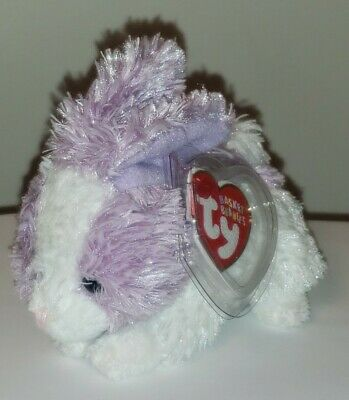 "Ty Basket Beanie Baby ~ MIPSY the 3.5"" Bunny Rabbit ~ MINT with MINT TAGS ~ RARE"