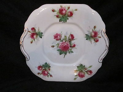 Hammersley  - Grandmother's Rose - Handled Cake Plate