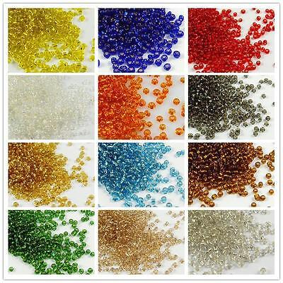 1000x 2mm Czech Glass Seed Spacer beads Jewelry Making DIY 12 Color Free P&P