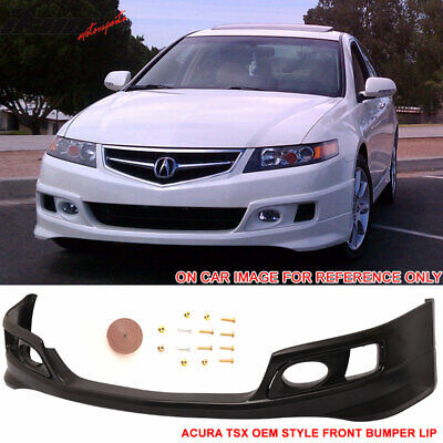 Fits 06-08 Acura TSX OE Factory Style Front Bumper Lip Spoiler - Urethane PU