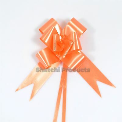 10pcs of 30mm Orange Pull Bows, Wedding Anniversary Birthday Gift decoration