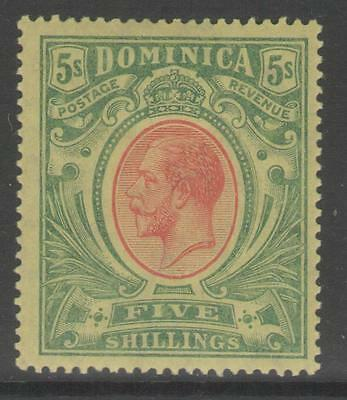 Dominica Sg54 1914 5/= Red& Green/yellow Mtd Mint