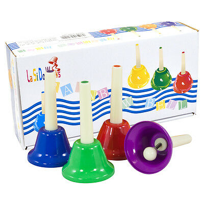 Percussion Workshop HB8 Coloured Hand Bells (Pack of 8)