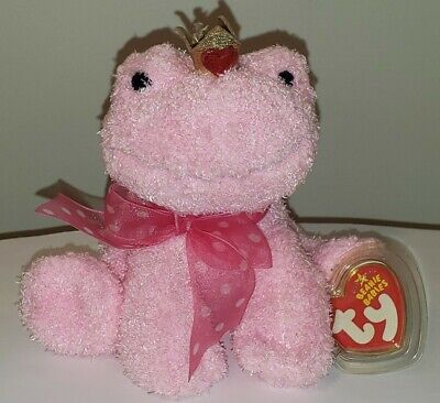 Ty Beanie Baby ~ KISSABLE the Pink Frog ~ MINT with MINT TAGS ~ RETIRED