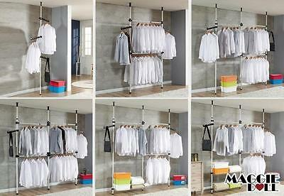 Hanger Clothes Wardrobe Movable Rack Adjustable Tools Free DIY YOUR OWN Coat