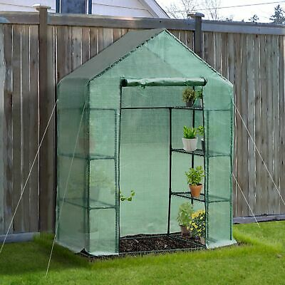 "56""×30""×78"" Portable 4 Tier Warm Greenhouse Garden Flower Plants Shed w/ Shelves"