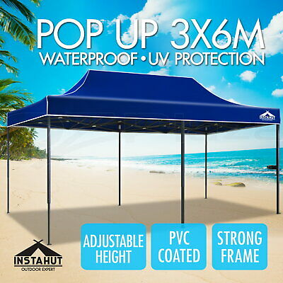 Instahut 3x6m Gazebo Outdoor Pop Up Tent Folding Marquee Party Camping Canopy