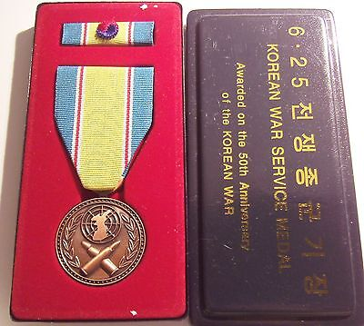 Korean War Service Medal 50th Anniversary Set with CASE