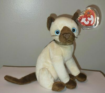 Ty Beanie Baby ~ SIAM the Siamese Cat ~ MINT with MINT TAGS ~ RETIRED