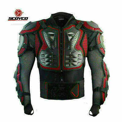 Motocross Riding Racing ATV Protector Full Body Armor Jacket Dirt Bike Gear Red