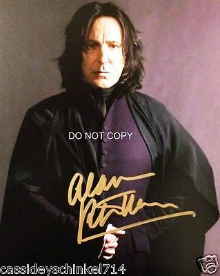 Alan Rickman reprint signed photo as Professor Snape in Harry Potter RP