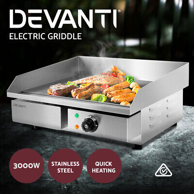 5-Star Chef Electric Griddle Grill Hot Plate Stainless Steel Commercial BBQ3000W