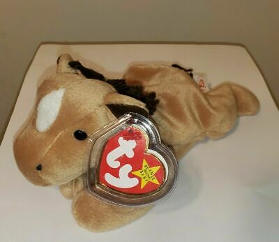 Ty Beanie Baby ~ DERBY the Horse w/ Star on Forehead ~ MINT with MINT TAGS