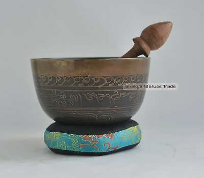 "Bronze Alloy 5"" Tibetan Buddhism Healing Meditation Singing Bowl From Nepal"