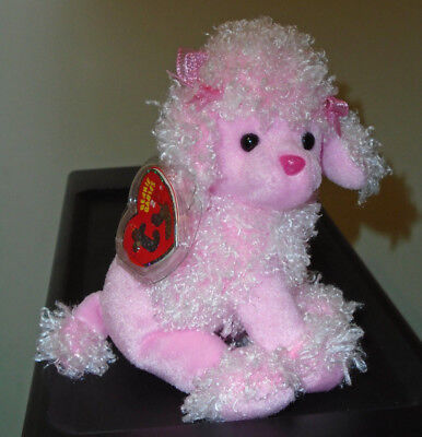 Ty Beanie Baby BB 2.0 ~ DUCHESS the Pink Poodle Dog ~ MWMT'S ~Stuffed Animal Toy