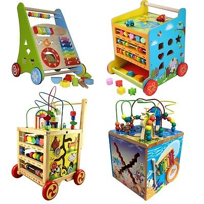 baby activ holz walker lauflernwagen lauflernhilfe laufwagen puppenwagen gehfrei eur 29 99. Black Bedroom Furniture Sets. Home Design Ideas