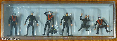 Preiser HO #10249 Divers with Scuba Gear (6 Hand Painted FIgures) 1:87 Scale