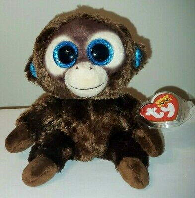 "Ty Beanie Boos ~ OLGA the 6"" Monkey ~ 2015 European Exclusive NEW ~ IN HAND"