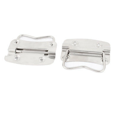 Trunk Drawer Cupboard Tool Box Chest Drop Pull Handle Silver Tone Pair