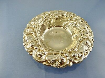 """ART NOUVEAU BORDER ROUND MINT BOWL 6"""" #6194 BY WHITING MFG Co. STERLING """"FPM"""""""